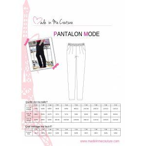 Manuel de montage Pantalon Mode